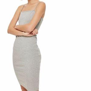 Topshop Bodycon Gray Stretch Dress Size 12